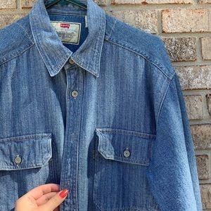 80s/90s Levi's heavy button you denim shirt